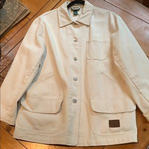 Beige denim Ralph Lauren jacket with Scarf